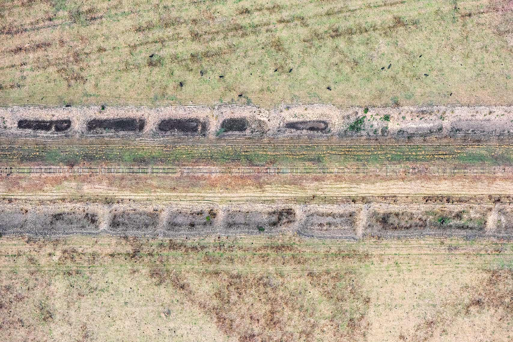 Zoe Wetherall / Aerial Landscape / Railway Track